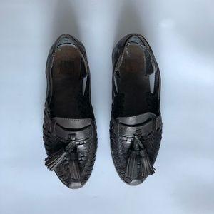 Frye Shoes - Frye Heather Huarache Woven Tassel Loafer Sz 5.5